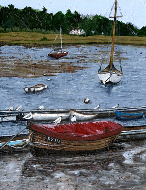 Woodbridge - Mixed media on board (Limited edition giclee print available £60)