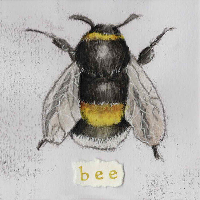 Bee 1 - monoprint on paper (open edition prints avaliable)
