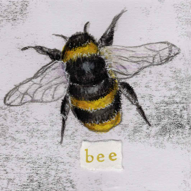 Bee 2 - monoprint on paper (open edition prints avaliable)