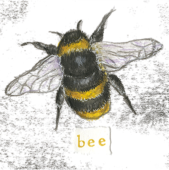 Bee 3 - monoprint on paper (open edition prints avaliable)
